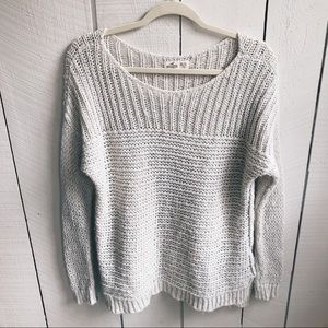 Hollister- Oatmeal Open-Knit Sweater